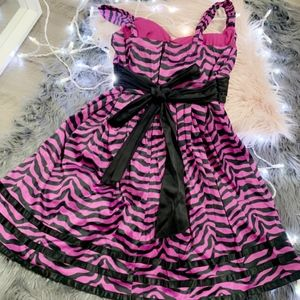 Zebra Print Party Dress